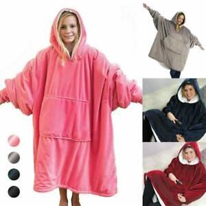 Blanket Sweatshirt Hoodie Ultra Plush Blanket Camping Warm Coat Wear New
