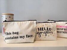 Canvas Makeup Bags & Cases