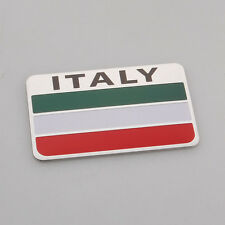 Auto Aluminum Italy Italian Flag Fender Emblem Badge Sticker Decal For BMW Audi