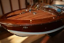 Riva Aquarama 90cm 3ft Top Quality Handmade Wooden Display or RC Model Speedboat