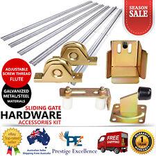Sliding Gate Hardware Accessories Kit Track Stopper Wheels Roller Guide Opener