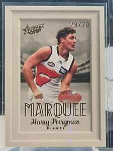 2021 AFL Select Footy Stars Marquee HARRY PERRYMAN # 29/70 GWS Giants