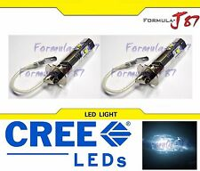 CREE LED 30W H3 White 6000K Two Bulbs Fog Light Quality Replacement Fit JDM Lamp