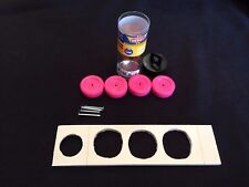 """Pinewood Derby 5.0"""" ABS Plastic Drilled Body Kit Rough U PICK WHEEL COLOR – NEW"""