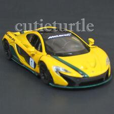 Kinsmart Mclaren P1 1:36 Diecast Toy Car  KT5393DF with Stripe #1 Yellow