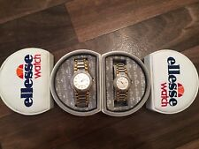 Vintage ELLESSE 'MATCHING' GENTS & LADIES Sport Watches Original Boxes EXCELLENT
