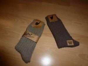 2 Paar Alpaka Socken Winter Wollsocken Thermo Norweger warm Gr. 43-46 UVP: 24€