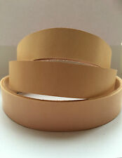 2.4-2.8mm Natural Belgium Veg Tan Leather Belt Blank Strap - plus 132cm