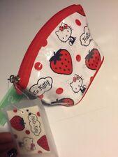 Sanrio Original Hello Kitty Make Up Bag Pouch Strawberry Japan 2008 Rare