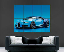 BUGATTI POSTER CHIRON CAR SUPERCAR FAST  ART LARGE IMAGE GIANT PRINT PICTURE