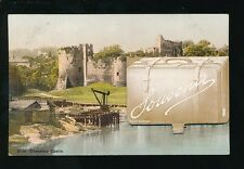 Wales Mon Monmouthshire CHEPSTOW Castle Pocket Novelty pre1919 PPC