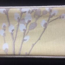 "LAURA ASHLEY PUSSY WILLOW CAMOMILE 1pr CURTAIN TIE-BACKS Piped 26"" L NEW"