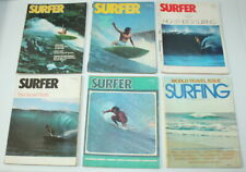 Lot of 6 Vintage Year 1977 Surfer Surfing Magazine Cool Mags FAST FREE SHIP USA