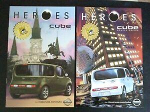 HEROES NISSAN CUBE NBC-TV SDCC 2009 PROMO COMICS ~ SET OF 2 VARIANTS