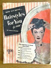 1948 HAIRSTYLES FOR YOU vintage hair styling booklet IVAN OF HOLLYWOOD 40's Doos