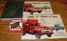1954 Ford Truck Shop Service Manual Owners Sales Brochure 14 Piece Lot 54