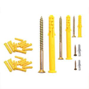 M4/5/6/8/10mm Dia Rawlplug Expansion Screws For Brick, Concrete Mounting