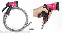 Pet GROOMING BATH Sprayer SPRAY Valve Nozzle&Stainless Steel Hose*EZ to USE*PINK