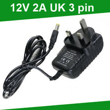 24w Ac/dc 12v 2a Power Supply Adaptor 3 Pin UK Plug for LED Strip Light 3528