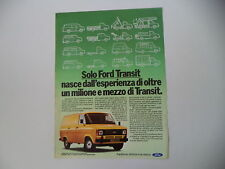 advertising Pubblicità 1981 FORD TRANSIT