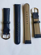 grosse PROMO lot 50 bracelets montre cuir bleu nuit rembou surpi Dispo 18 mm