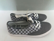 BNWT Little Boys Sz 13 Rivers Doghouse White Grey Check Canvas Casual Shoes