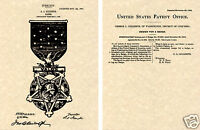 1904 Medal of Honor US Patent Art Print READY TO FRAME!!!  Valor Badge Gillespie