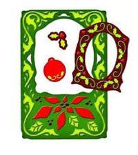 Spellbinders Poinsettia Frame universal die set s5018 cut emboss & stencil holly
