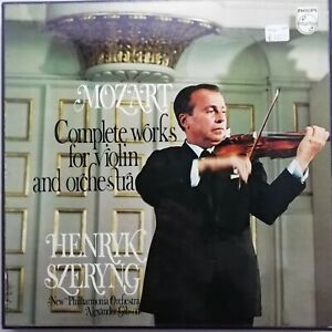 Mozart: Complete Works for Violin & Orchestra / Szeryng / Philips 4 LP 6707 011