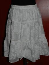 Women's LILLY PULITZER White Tiered SKIRT w/Floral Print Excellent Condition 8 P
