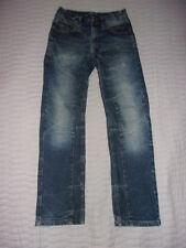 Jean droit, poches zippées, bleu délavé - Taille 12 ans - Très bon état