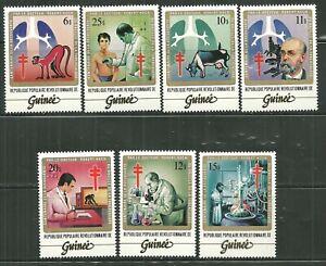 GUINEA 852-58 MNH DR ROBERT KOCH AND TB BACILLUS SCV 17.75