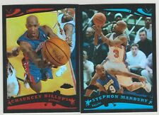 (2) 2005-06 Topps Chrome STEPHON MARBURY BLACK REFRACTOR  /399 Chauncy Billups