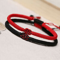 Chinesische Knoten Armband Knallen Rotes Seil Schmuck aus dem Handgelenk