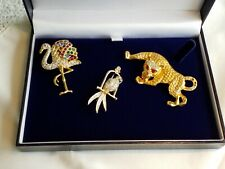 Repair, 1 Duchess Of Windsor Style. Fabulous Lot Of 3 Vintage Brooches For
