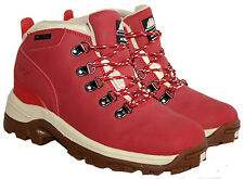 WATERPROOF WALKING/HIKING TREKKING LACE UP BOOT IN RED IN SIZE 3