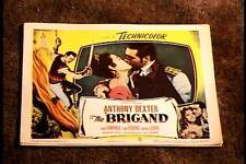 BRIGAND 1952 LOBBY CARD #6 ANTHONY DEXTER KISSING