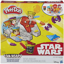 NEW HASBRO PLAY-DOH STAR WARS CAN-HEADS MILLENNIUM FALCON 5 CANS PLAYDOH B0002