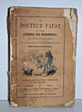 COLLIN PLANCY Docteur Faust Legendes Personnages Diable ESOTERISME Demons 1854