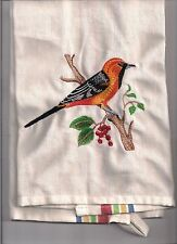 NEW kitchen Tea Towel embroidered with ORIEL