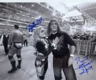 BRET HART & NATALYA NATTIE WWE SIGNED AUTOGRAPH 8X10 PHOTO W/ PROOF