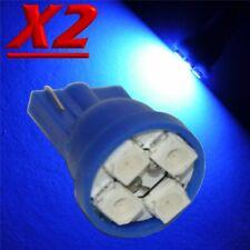2 X LED T10 4 SMD BLU XENON Lampade Lampadine Luci Per Targa e Posizione W5W