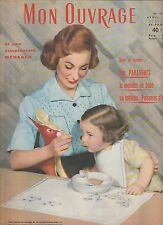 Mon ouvrage N°103 Avril 1957 Broderie décoration