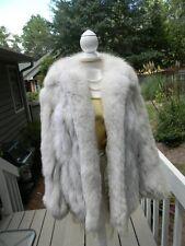 JOHN TAUBEN - THICK & SOFT! Natural blue FOX fur jacket white - Small