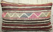 (30*50cm, 12*20inch) Lumbar vintage handwoven kilim cover - faded tribal