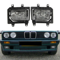 Pair Clear Lens Front Bumper Driving Fog Light Lamp for BMW E30 1985-1993 AS