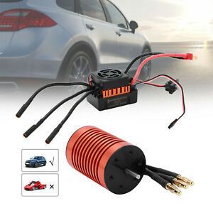 9T Waterproof Brushless Motor 60A ESC Speed Controller Combo For 1/10 RC Car