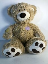 Build A Bear Workshop Patchwork Patches Brown Teddy Bear Plush Animal