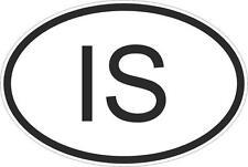 Adesivo adesivi sticker codice auto moto ritagliato nazioni ovale ISLANDA