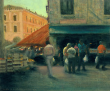VENICE, ITALY - RIALTO MARKET - BY ELIAS RIVERA  - ORIGINAL OIL PAINTING